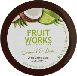 Grace Cole Fruit Works Body Butter masło do ciała Kokos & Limonka 225ml