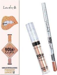 Lovely LOVELY_Holo Lips Liquid Lip Topper & Lip Pencil wielofunkcyjny zestaw do makijażu ust 4 Paradise Sunset