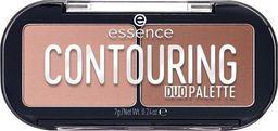 Essence ESSENCE_Contouring Duo Palette paletka do konturowania 10 Lighter Skin 7g