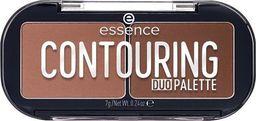 Essence ESSENCE_Contouring Duo Palette paletka do konturowania 20 Darker Skin 7g
