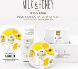House of Glam HOUSE OF GLAM_Świeca zapachowa z wosku sojowego i pszczelego Beauty Milk & Honey SPA 200g