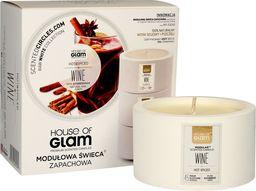House of Glam HOUSE OF GLAM_Świeca zapachowa z wosku sojowego i pszczelego Wine Hot & Spiced 200g