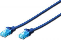 Digitus Patch cord U/UTP kat.5e PVC 5m Niebieski