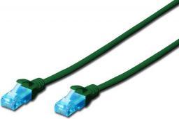 Digitus Patch cord U/UTP kat.5e PVC 3m Zielony