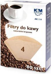 Filtr do kawy, rozmiar 4, 80szt.