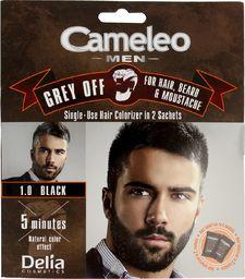 Delia Delia Cosmetics Cameleo Men Krem koloryzujący do włosów,brody i wąsów nr 1.0 black  15mlx2