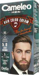 Delia Delia Cosmetics Cameleo Men Krem koloryzujący do włosów,brody i wąsów nr 5.0 Light Brown  1op.