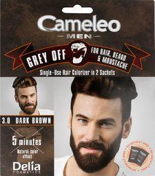 Delia Delia Cosmetics Cameleo Men Krem koloryzujący do włosów,brody i wąsów nr 3.0 dark brown  15mlx2