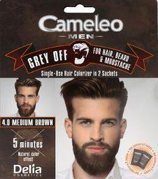 Delia Delia Cosmetics Cameleo Men Krem koloryzujący do włosów,brody i wąsów nr 4.0 medium brown  15mlx2