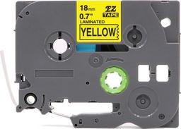 Strefa Drukarek  Brother TZe-641 żółta/czarny nadruk 18mm x 8m zamiennik