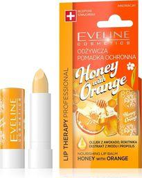 Eveline Eveline Lip Therapy Professional Pomadka odżywcza do ust Honey with Orange  1szt