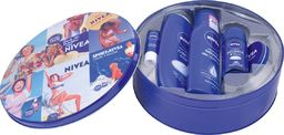 Nivea Nivea Zestaw prezentowy Tin (żel p/pr.250ml+ml.d/ciała 250ml+deo roll-on50ml+krem30ml+pomadka ochr.)