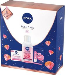 Nivea Nivea Zestaw prezentowy Rose Care (krem odż n/dzień 50ml+płyn micel.200ml+pomadka ochr.)