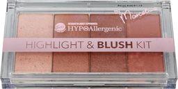 BELL Bell Hypoallergenic Highlight & Blush Kit Zestaw rozświetlaczy i różu  20g