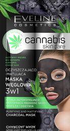 Eveline Cannabis Skin Care Maska węglowa 3w1  7 ml