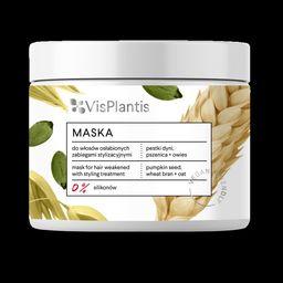 Elfa Pharm Vis Plantis Vegan Friendly Maska do włosów osłabionych -Pestki Dyni,Pszenica i Owies  400ml