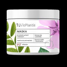 Elfa Pharm Vis Plantis Vegan Friendly Maska do włosów suchych i matowych -Lukrecja,Lipa i Prawoślaz  400ml