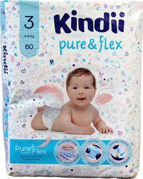 Kindii Kindii Pure & Flex Pieluchy jednorazowe 3 (4-9kg)  1op.-60szt
