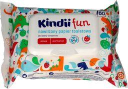 Kindii Kindii Fun Nawilżany Papier toaletowy dla dzieci   1op.-60szt