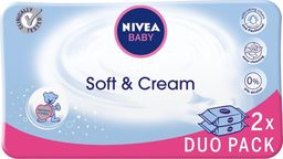 Nivea Nivea Baby Chusteczki Soft & Creme duopack  2 x 63szt