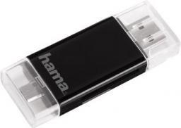 Czytnik Hama USB 2,0 SD/microSD MICRO USB B Czarny  - (001239500000)