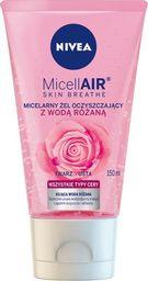 Nivea Nivea Micell Air Skin Breathe Micelarny Żel oczyszczający z Wodą Różaną  150ml