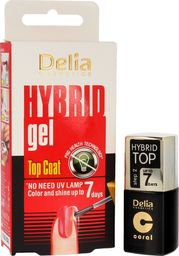Delia Top do lakieru hybrydowego Hybrid Gel Top Coat 7 days 11ml
