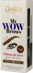 Delia Delia Cosmetics My Wow Brows Henna do brwi - brązowa  6ml