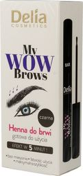 Delia Delia Cosmetics My Wow Brows Henna do brwi - czarna  6ml