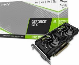 Karta graficzna PNY Technologies GeForce GTX 1660 SUPER Twin Fan 6GB GDDR6 (VCG16606SDFPPB)