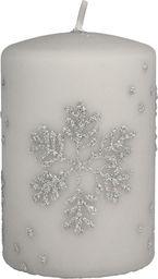 Artman świeca Płatek Śniegu walec mały (986732)