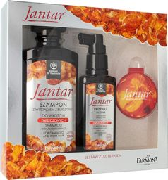 Farmona Farmona Zestaw prezentowy Jantar (szampon 330ml+odżywka-wcierka 100ml+lusterko)