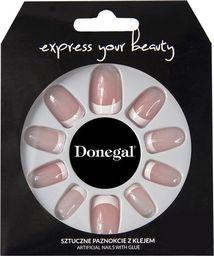 Donegal SZTUCZNE PAZNOKCIE z klejem Express Your Beauty (3040)  1op.-28szt