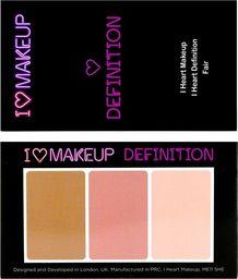 Makeup Revolution I Heart Makeup I Heart Definition Zestaw do konturowania twarzy Fair  1szt