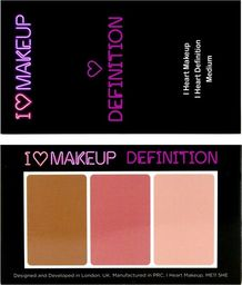 Makeup Revolution I Heart Makeup I Heart Definition Zestaw do konturowania twarzy Medium  1szt