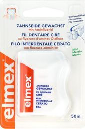 Elmex  Nić do zębów woskowana miętowa  1szt-50m