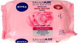 Nivea Nivea Micell Air Skin Breathe Chusteczki micelarne z Wodą Różaną  1op.-25szt