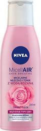 Nivea Nivea Micell Air Skin Breathe Micelarne Mleczko i Tonik z Wodą Różaną  200ml