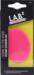 L.A.B. 2 Silikonowa gąbka do mycia twarzy różowa