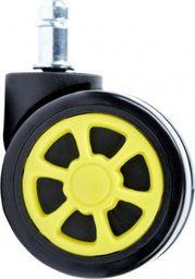 GIOSEDIO Kółka gumowe sportowe czarno-żółte (5 szt.),model KG-GSA-13 KG-GSA-13