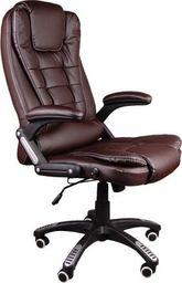 GIOSEDIO Fotel biurowy BSB003 brązowy