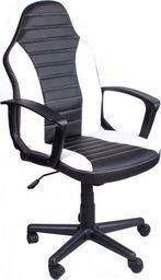 GIOSEDIO Fotel biurowy FBE czarno-biały FBE042