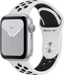 Smartwatch Apple Watch Nike Series 5 GPS 40mm Silver Alu Czarno-biały  (MX3R2FD/A)