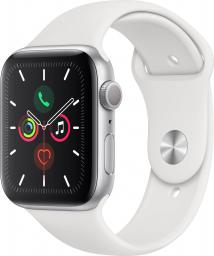 Smartwatch Apple Watch 5 GPS 44mm Silver Alu Biały  (MWVD2FD/A)
