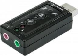 Karta dźwiękowa Manhattan Hi-Speed USB 3D wirtualny 7.1 z regulacją głośności