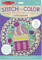 Melissa & Doug MELISSA Wyszywanka Stitch by Colour Cute Cupcake w pud. 18918