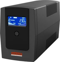 UPS Lestar Zasilacz awaryjny UPS MEL-655ssu 650VA/390W AVR LCD 2xSCH USB RJ11-1966011015