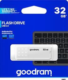 Pendrive GoodRam UME2 32GB USB 2.0 Biały (UME2-0320W0R11)
