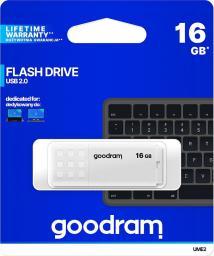 Pendrive GoodRam UME2 16GB USB 2.0 Biały (UME2-0160W0R11)