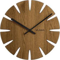 Vlaha Drewniany dębowy ręcznie wykonany zegar ścienny (VCT1015)
